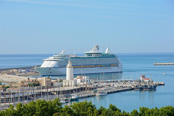 cruise at malaga port